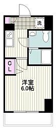 クレヴァンス川崎鹿島田 9階1Kの間取り