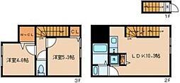 プライムガーデン中馬込 2階2LDKの間取り