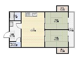 ローズハイツ[3階]の間取り