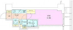 赤坂レジデンス壱番館 3階1Kの間取り