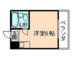 パシフィック塚本[6階]の間取り