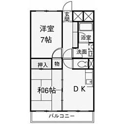 シティ稲城[2階]の間取り