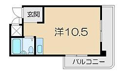 シャトレービル[4階]の間取り