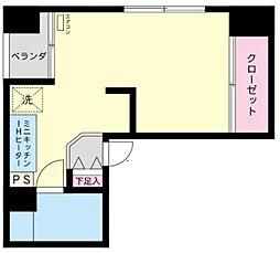 神奈川県川崎市中原区上新城2の賃貸マンションの間取り