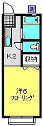 第2神橋ハイツ[203号室]の間取り
