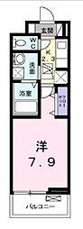 北総鉄道 秋山駅 徒歩5分の賃貸アパート 3階1Kの間取り
