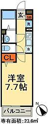 JR常磐線 松戸駅 徒歩13分の賃貸マンション 3階1Kの間取り