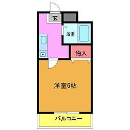 第三エクセル行徳[4階]の間取り