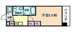 エステムプラザ梅田・中崎町Ⅲツインマークスノースレジデンス[6階]の間取り