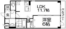 (仮称)枚方伊加賀東町PJ 4階1LDKの間取り