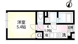 (仮称)練馬区田柄4丁目 1階1Kの間取り