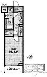 JR中央線 西荻窪駅 徒歩11分の賃貸マンション 2階1Kの間取り