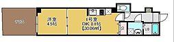 JR総武線 幕張駅 徒歩3分の賃貸マンション 1階1DKの間取り