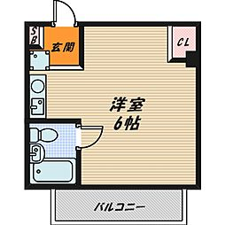 グレースハイツ野江[3階]の間取り