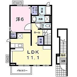 メゾンみのるII[2階]の間取り