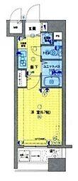 ガラステージ日本橋茅場町[5階]の間取り
