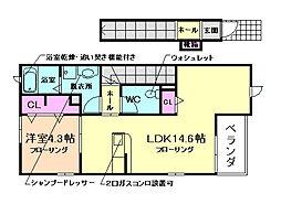 COCOLUANA・K II[2階]の間取り