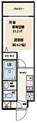 JR京浜東北・根岸線 南浦和駅 徒歩13分の賃貸マンション 1階1Kの間取り