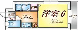 アパートメント須磨天神[2階]の間取り