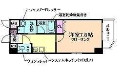 ファーストフィオーレ大阪ウエスト 2階1Kの間取り