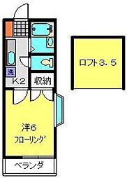 神奈川県横浜市神奈川区羽沢南3丁目の賃貸アパートの間取り