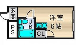 セイコーハイツ 仲介手数料10800円 専用消毒も不要[3階]の間取り
