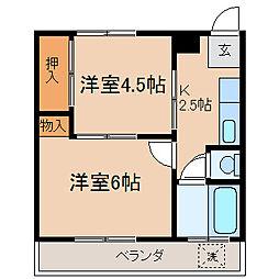 岩井マンション[4階]の間取り