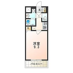 JR大阪環状線 西九条駅 徒歩4分の賃貸マンション 7階1Kの間取り