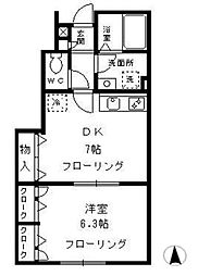 ガーデンテラス国立 D棟[1階]の間取り