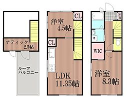 [一戸建] 東京都大田区北馬込1丁目 の賃貸【/】の間取り