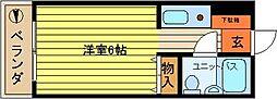第40新井ビル[302号室]の間取り