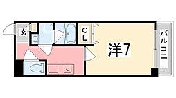 ベル・ドミール西二階町[6階]の間取り