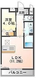 東武越生線 東毛呂駅 徒歩8分の賃貸マンション 2階1LDKの間取り
