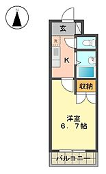 愛知県名古屋市名東区照が丘の賃貸マンションの間取り