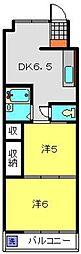 神奈川県川崎市中原区北谷町の賃貸マンションの間取り