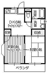 シャトレー富士[1階]の間取り