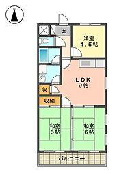 愛知県名古屋市名東区香流2丁目の賃貸マンションの間取り