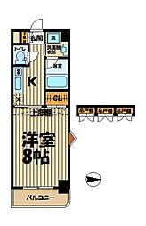 エクセラ鎌倉[501号室]の間取り