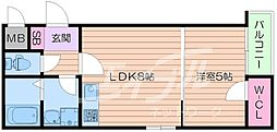 HR・FRONT・REGAL城北[3階]の間取り