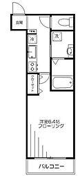 アヴァンセ渋谷 3階1Kの間取り