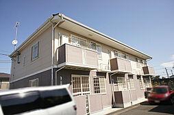 栃木県宇都宮市雀の宮2の賃貸アパートの外観