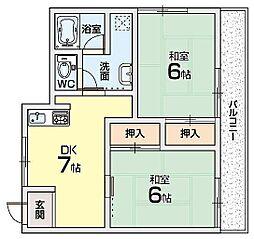 小篠マンション[2階]の間取り