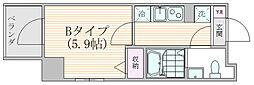 ザ・プレシャス武蔵小杉 3階1Kの間取り
