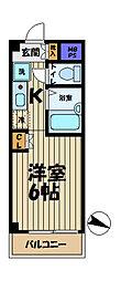 ライフピアモア大船[201号室]の間取り