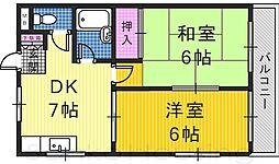 JOマンション[4階]の間取り
