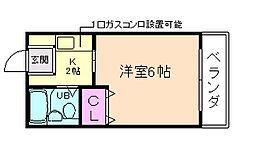 ガーデンハイツ[1階]の間取り