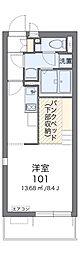 JR成田線 東我孫子駅 徒歩5分の賃貸アパート 2階ワンルームの間取り
