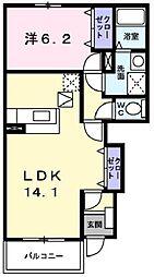 シャンゼリゼB[1階]の間取り