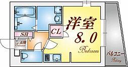 ハイマート須磨[1階]の間取り