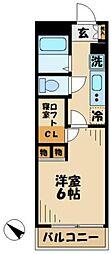 京王相模原線 京王多摩センター駅 徒歩17分の賃貸マンション 2階1Kの間取り